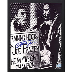 Framed Autographed Photo of Frazier with Ali