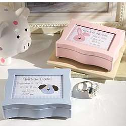 Personalized Pink And Blue Music Box