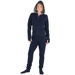 Dormisoft Denim Hoodie-Footie for Women