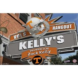 Personalized Tennessee Volunteers Pub Sign Canvas