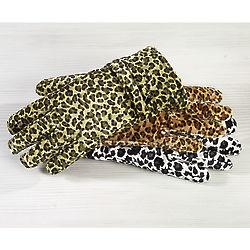 Animal Print Velvet Gloves