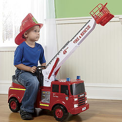 Action Fire Engine Ride On Toy Findgift Com