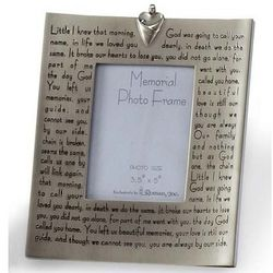Broken Chain Poem Memorial Photo Frame