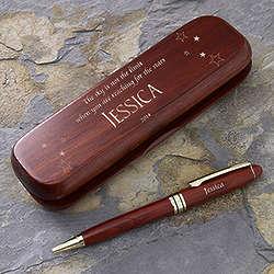 Inspiring Graduate Engraved Rosewood Pen Set