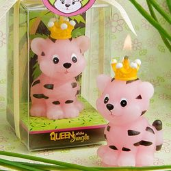 Queen of the Jungle Pink Tiger Candle Favors