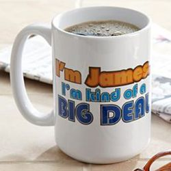 Large Personalized Big Deal Mug