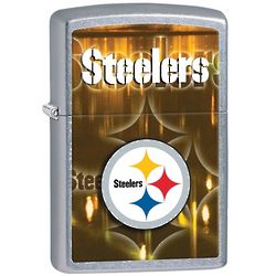 Pittsburgh Steelers Brushed Chrome Zippo Lighter