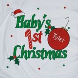 Baby's 1st Christmas Personalized T-Shirt