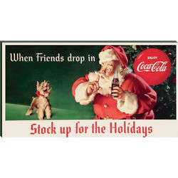 Santa and Puppy Vintage Have Yourself a Coca-Cola Christmas Print