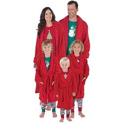 Matching Family Red Marshmallow Christmas Robes
