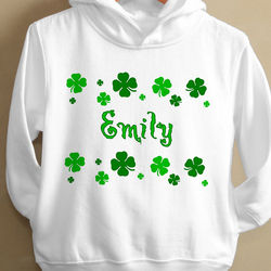 Lucky Clover Toddler Hooded Sweatshirt