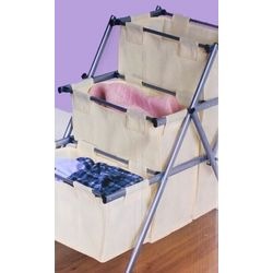 Folding 3-Tier Hamper