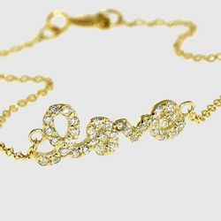 Gold Rhodium Plated Love Bracelet