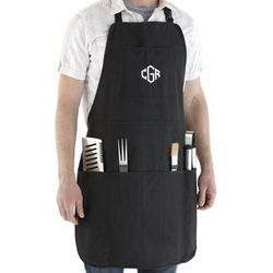 BBQ Apron and Grill Set