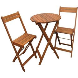 Hardwood Bistro Table and Chairs for Garden and Yard