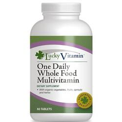 Bottle of One Daily Whole Food Multivitamin with 60 Tablets