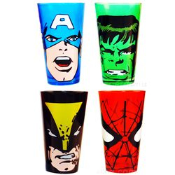 Marvel Glass Tumbler Set