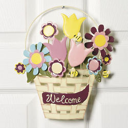 Welcome Spring Metal Wall Decor