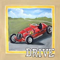 Vintage Car Drive Wall Art