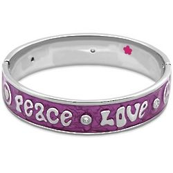 Enamel Love and Peace Baby Bangle Bracelet