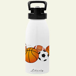 Sports Ball Reusable Aluminum Water Bottle