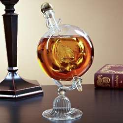 Sail Away Glass Decanter Globe