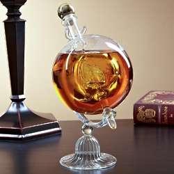 Sail Away Glass Decanter Globe