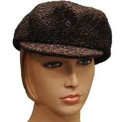 Women's Brown Newsboy Cap
