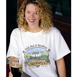 Personalized Irish Bed & Breakfast T-Shirt