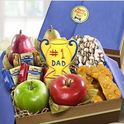 Number 1 Dad Fruit and Sweets Gift Box