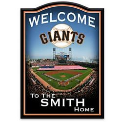 San Francisco Giants Personalized Welcome Sign