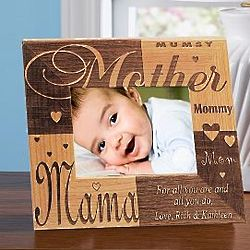 Personalized 5x7 Mother Wooden Frame
