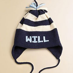 Personalized Stripe Colors and Name Earflap Hat