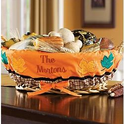 Personalized Thanksgiving Basket Liner