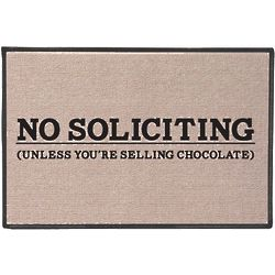 Awesome No Soliciting Unless Youu0027re Selling Chocolate Doormat