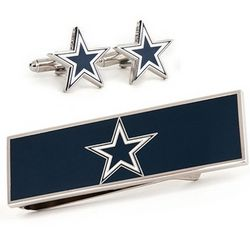 Dallas Cowboys Cuff Links and Money Clip Gift Set