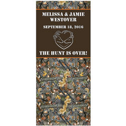 Personalized the Hunt is Over Wedding Backdrop Banner