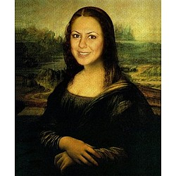 Your Friend's Face on Mona Lisa Personalized Print