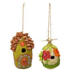 Flower and Forest Felt Birdhouses
