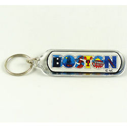 Boston Block Key Chain