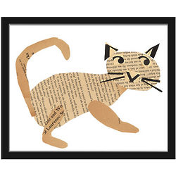 Recycled Cat Art Print