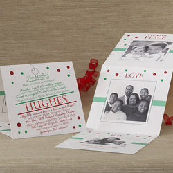 Personalized Special Milestones Tri-Fold Christmas Cards