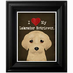 I Heart My Dog Framed Print