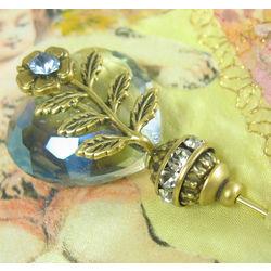 Blue Crystal Rhinestone Hat Pin