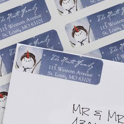 Snowman Personalized Return Address Labels