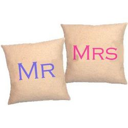 Personalized Mr. and Mrs. Cushions