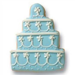 Blue Wedding Cake Cookies