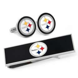 Pittsburgh Steelers Cuff Links and Money Clip Gift Set