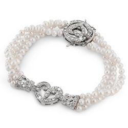 Vintage Heart Freshwater Pearl Bracelet