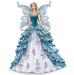 Ovarian Cancer Awareness Winged Maiden Figurine